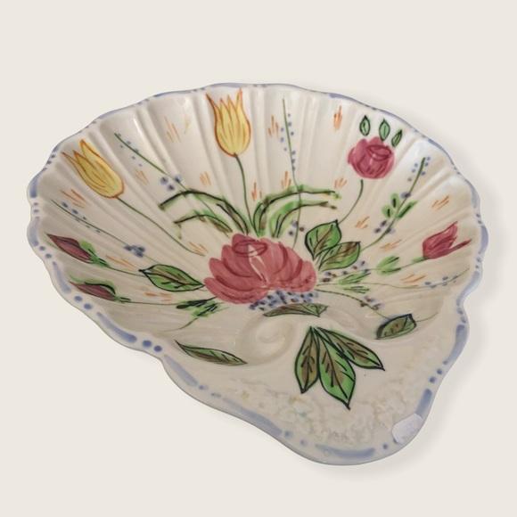 Blue Ridge Pottery Deep Shell Dish Rose Marie Relish/Bon Bon Server